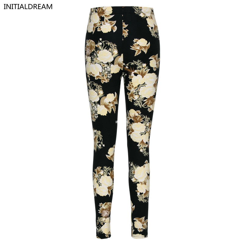 new fashion 2018 Women Pants Plaid Flowers Print  Leggings Women Slim Casual Leggings Elastic Leggins pant Workout Trouser