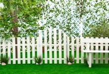 hot deal buy laeacco photo backdrops white wooden fence bench tree green lawn child portrait scenic photo backgrounds photocall photo studio