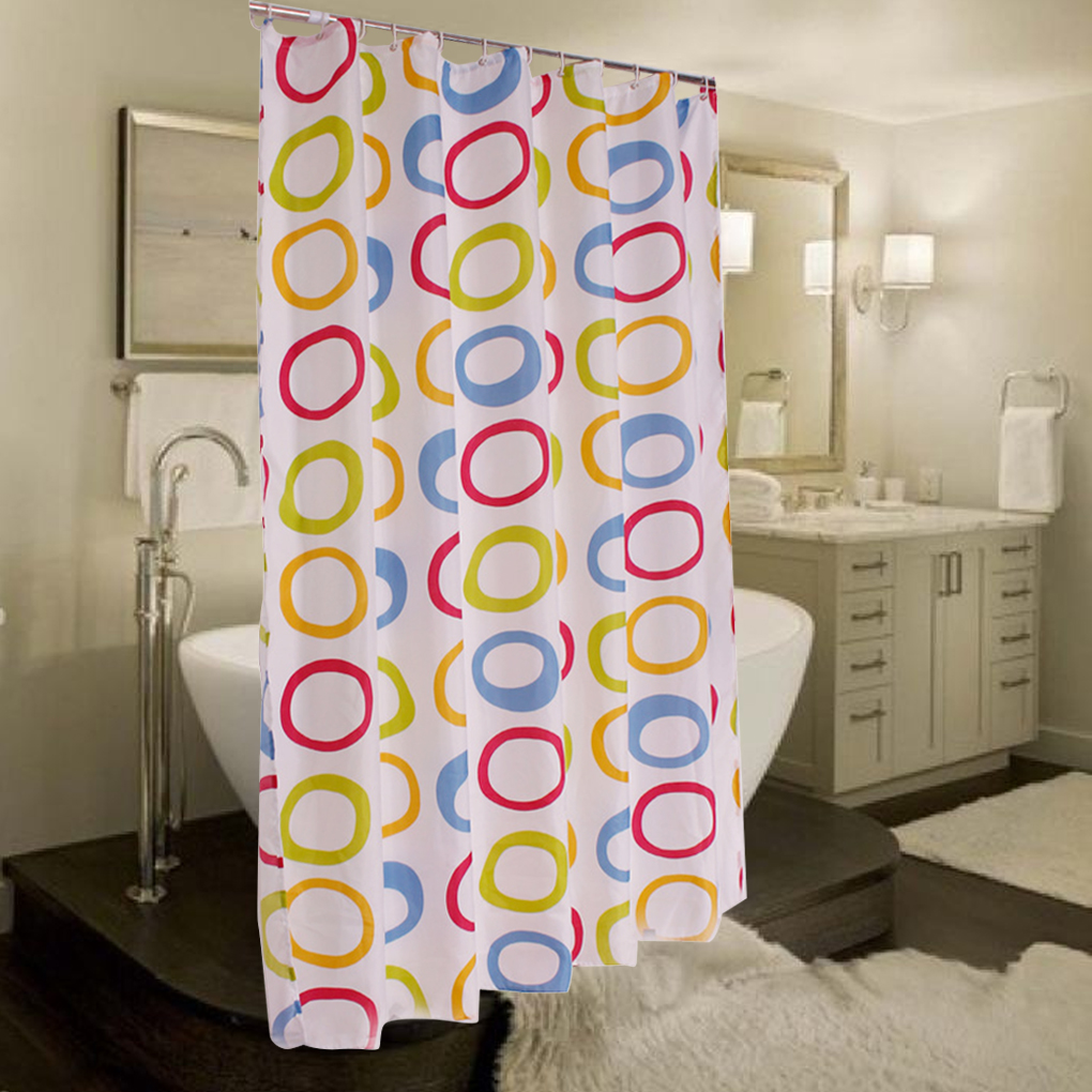 Colorful shower curtains - Round Shower Curtains