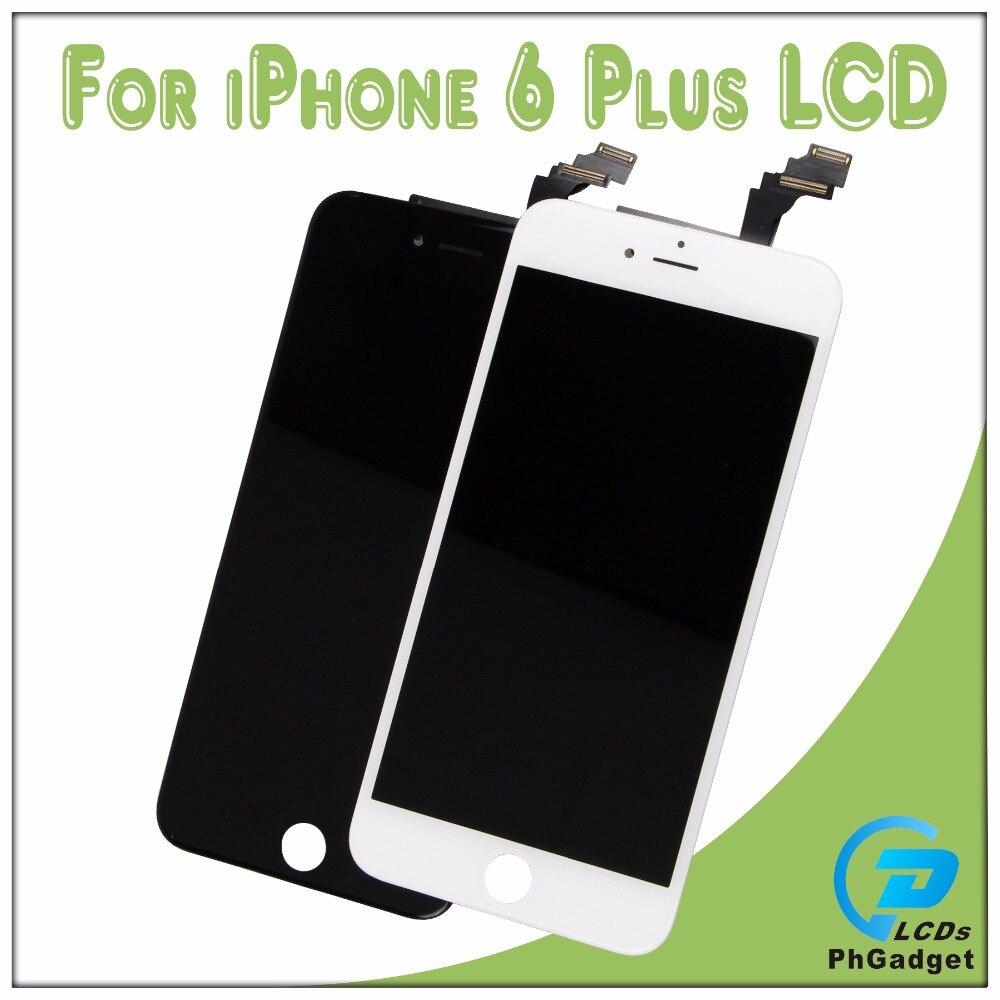 imágenes para Touch Screen Digitizer + Ensamblaje de la Pantalla LCD de Reemplazo Para Apple IPhone 6 p 6 más Blanco y Negro de Calidad Superior