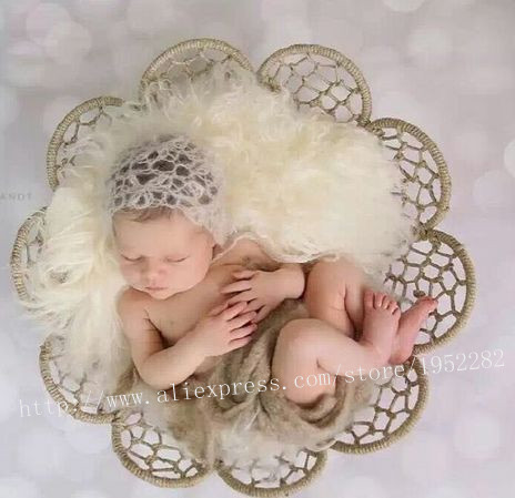 Sells Newborn Woven Straw Basket Baby Nest Photography Props,High Quality Chic Baby Seats Flower Pattern,Bebe Baby Posing Prop
