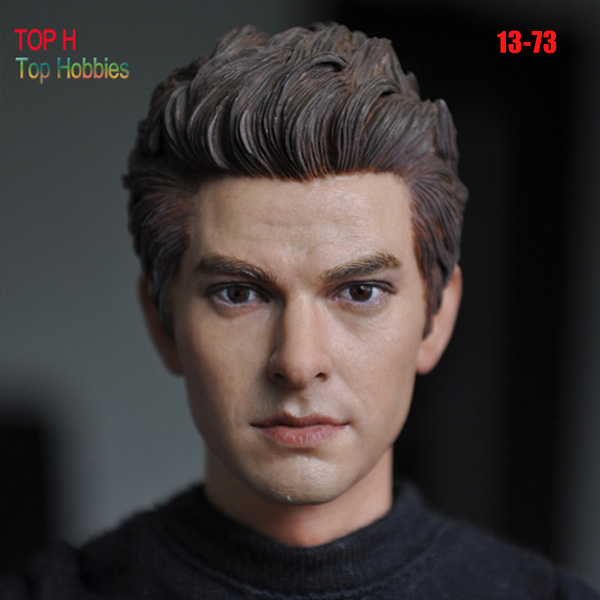 kUMIK 13-73 1/6 Spider-Man Peter Parker Andrew Garfield headsculpt Model for DIY 12inch doll Parts Man Head shape 1 6 pirates of the caribbean angelica headsculpt for diy 12inch doll parts