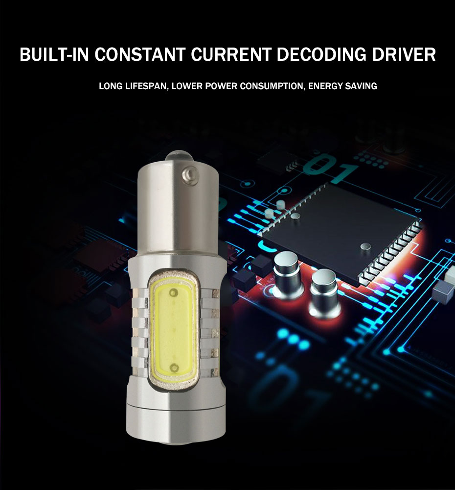 2X 1157 Strobe Bulbs 1156 Ba15S 1157 BAY15D Led COB 12V LED Light Car Turn Brake Strobe Flash Bulb Tail Light Led Lamp (2)