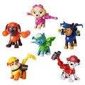6 Unids/set Patrulla de Cachorro de Perro de Juguete Para Niños de Dibujos Animados Anime Figura de Acción de Mini Figuras de Juguete Perro de la Patrulla Modelo Juguetes Para Niños WJ438