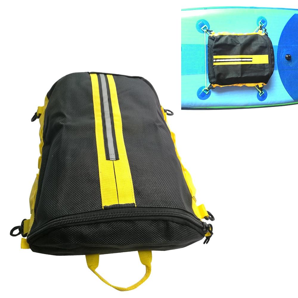 Kayak SUP Paddleboard Mesh Deck Bag For Boat Canoe Rafting Stand Up Paddle Board Deck Pocket Storage Bag