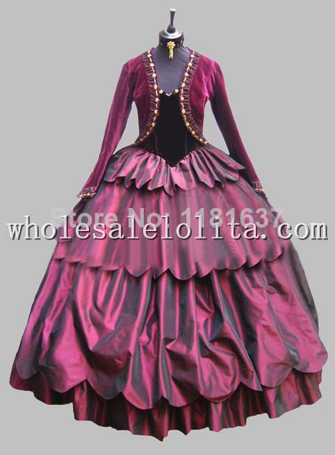 Deluxe Purple Victorian Era Dress Venice Carnival Costume Party Dress Cosplay Dress