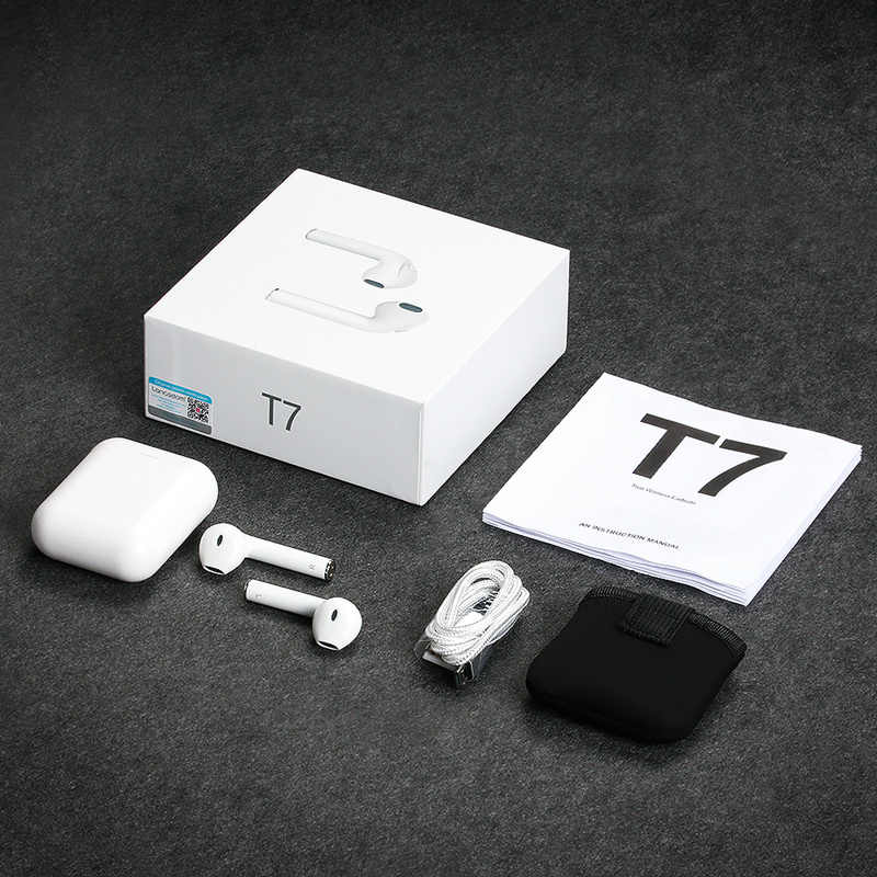 Langsdom T7 TWS Bluetooth 5.0 écouteur vrai sans fil Sport écouteurs casque stéréo écouteurs avec Microphone pour téléphone iphone