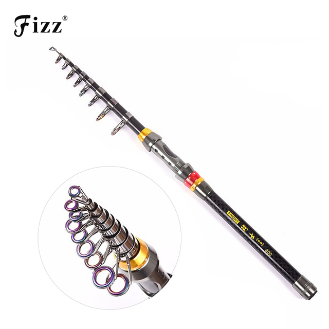Portable Lightweight Telescopic Fishing Rod High Carbon Fiber Fishing Pole 1.8 2.1 2.4 2.7 3.0 3.6M Fishing Tackle