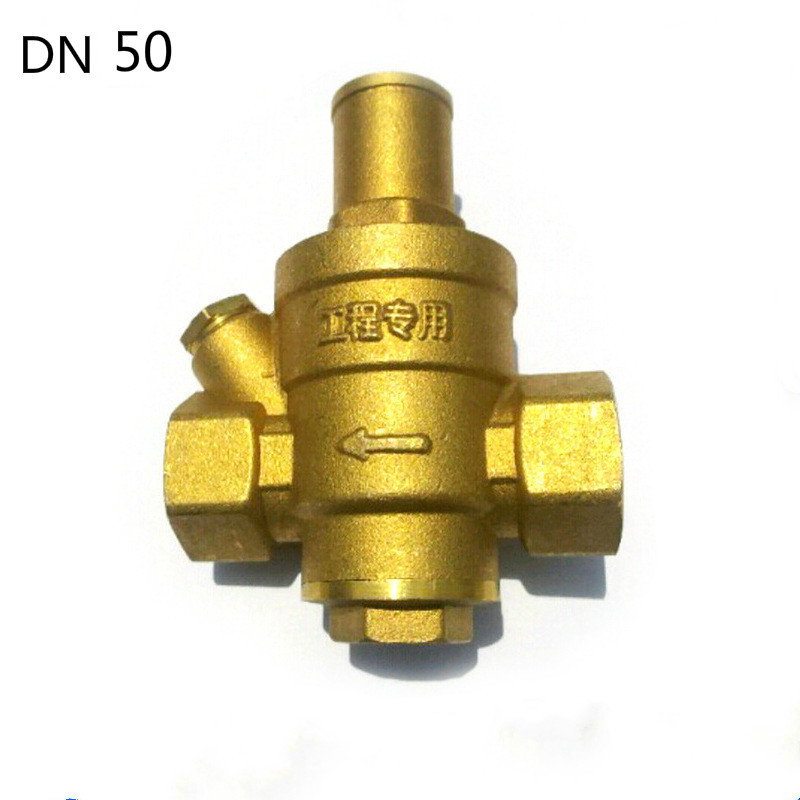 2DN50 Brass  water pressure regulator without Gauge,pressure maintaining valve,Tap water pressure reducing valve 1 2 built side inlet floating ball valve automatic water level control valve for water tank f water tank water tower