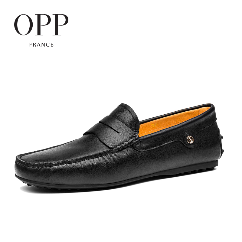 OPP 2017 Cow Leather Flats Comfortable Summer Mens Casual Footwears Shoes Genuine Men's Leather Loafers Shoes moccasins opp 2017 cow leather loafers men footwears summer mens zapatos hombres for men cow leather flats shoes casual lace up shoes