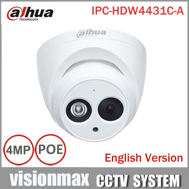 ФОТО Dahua H2.65 IPC-HDW4431C-A Built-in MIC HD 4MP IR 30m network IP Camera security cctv Dome Camera Support POE HDW4431C-A