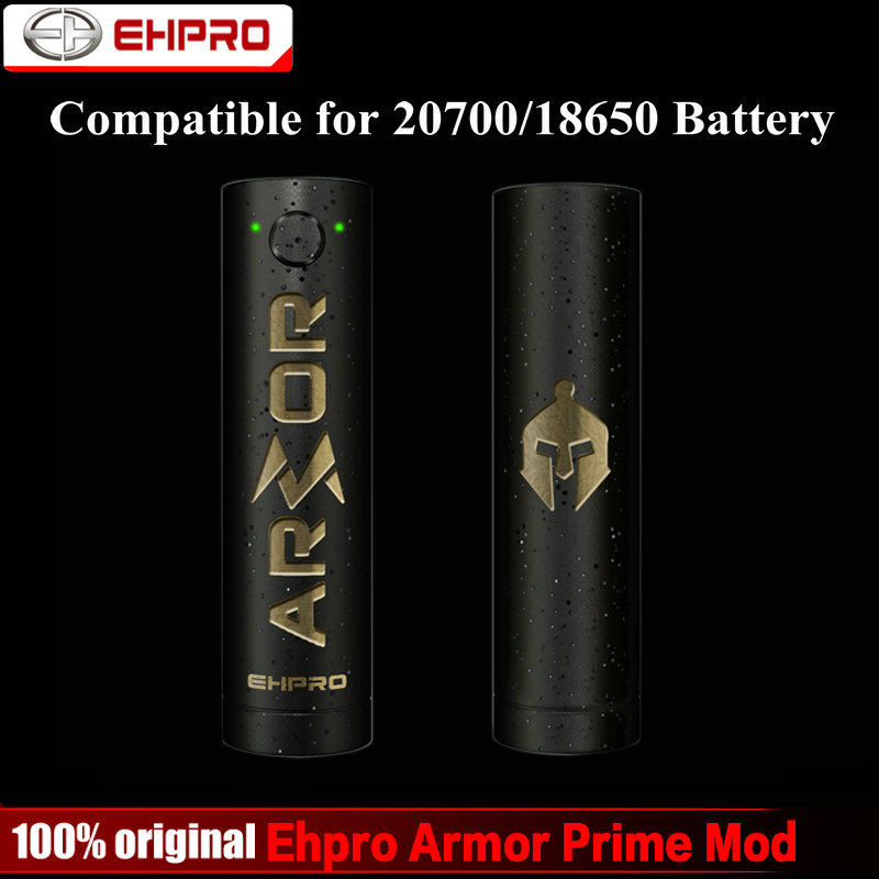 Original Ehpro Armor Prime Mechanical Mod 510 Thread Fit for 20700 18650 Battery Electronic Cigarette Vape Mod for RTA RDA Tank