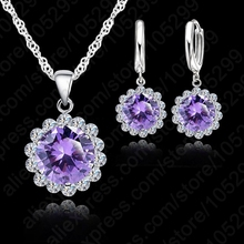 JEXXI JEXXI Wholesale Price Wedding Jewelry Set 925 Pure Silver Cubic Zircon Necklace Pendant/Earrings Fashionable Women Set