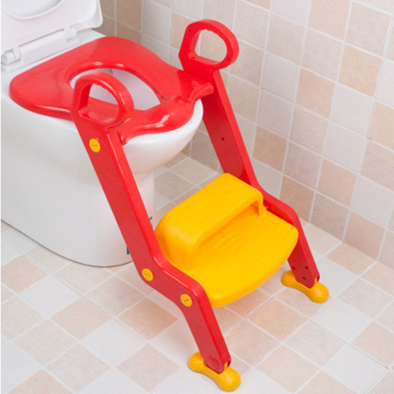 Baby Folding Potty Trainer Seat Baby Toilet Seat Chair Step With Adjustable Ladder Child Potty Seat Toilet With Free Brush colorful baby potty seat toilet folding child dual use potties toilet cover for kids baby toilet trainer seat 1 5 years