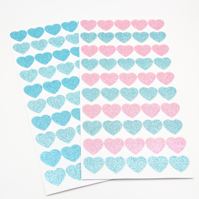 ZFPARTY 1pcs Heart Gilding Self- Adhesive Paper Sticker For Scrapbooking Happy Planner/Card Making/Journaling Project