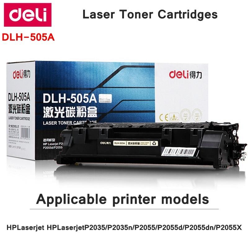 Deli-505A Toner Cartridges For HPLaserjet P2035/P2035n/P2055/P2055d/P2055dn/P2055X include 135g Toner powder print 2300 pages цена