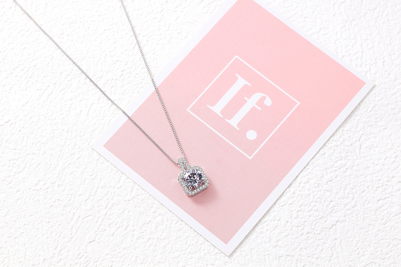 REETI 925 Sterling Silver Long Necklaces Pendants For Women Fashion Lady Festival Gift Sterling silver jewelry in Pendant Necklaces from Jewelry Accessories