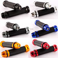 6 Colors 7/8 inch Motorcycle CNC Aluminumum Rubber Gel Hand Grips For 22mm Handlebar Sport Bike Red Moto Motorcycle Accessories