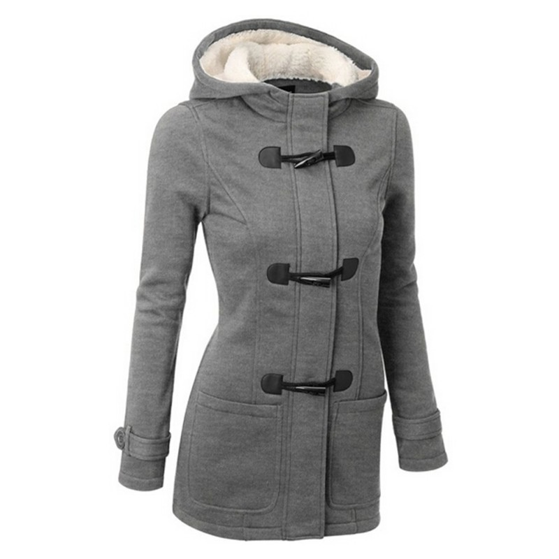 Autumn Winter Women Thick Wool Coat Hoodie Jacket Parka Trench ...