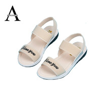 Aercourm A Children Shoes Girls Sandals 2017 New Summer Girls Shoes PU Leather Lovely Princess Teens