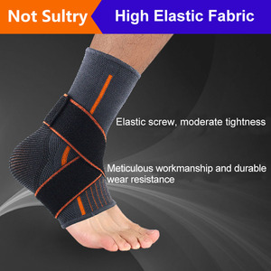 Black Gray Ankle Support Prote