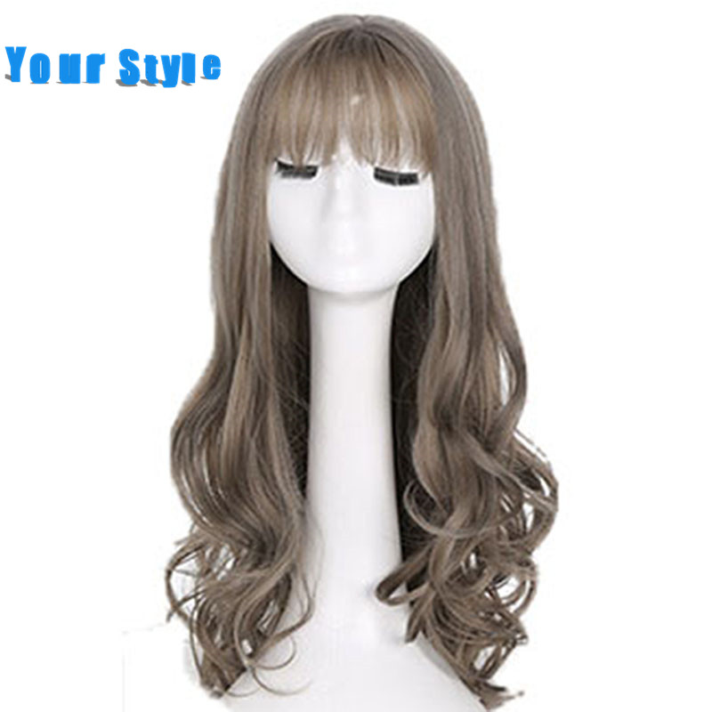 Have An Inquiring Mind Inhair Cube Synthetic Flat Bangs Women Wig Ombre With Highlight Short Straight Hair Bob Wig Cosplay Hairstyle Synthetic None-lacewigs