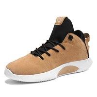 2018 dos homens Baratos Tênis De Basquete Em Tribunal Wearable Amortecimento Sneakers Calçados Esportivos de Treinamento de Basquete Ankle Boots para o Sexo Masculino