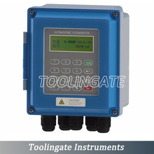 Free Shipping Digital TUF-2000B Ultrasonic Flow Meter with TS-2 Transducer (DN15mm-100mm) wall mounted type Liquid flowmeter
