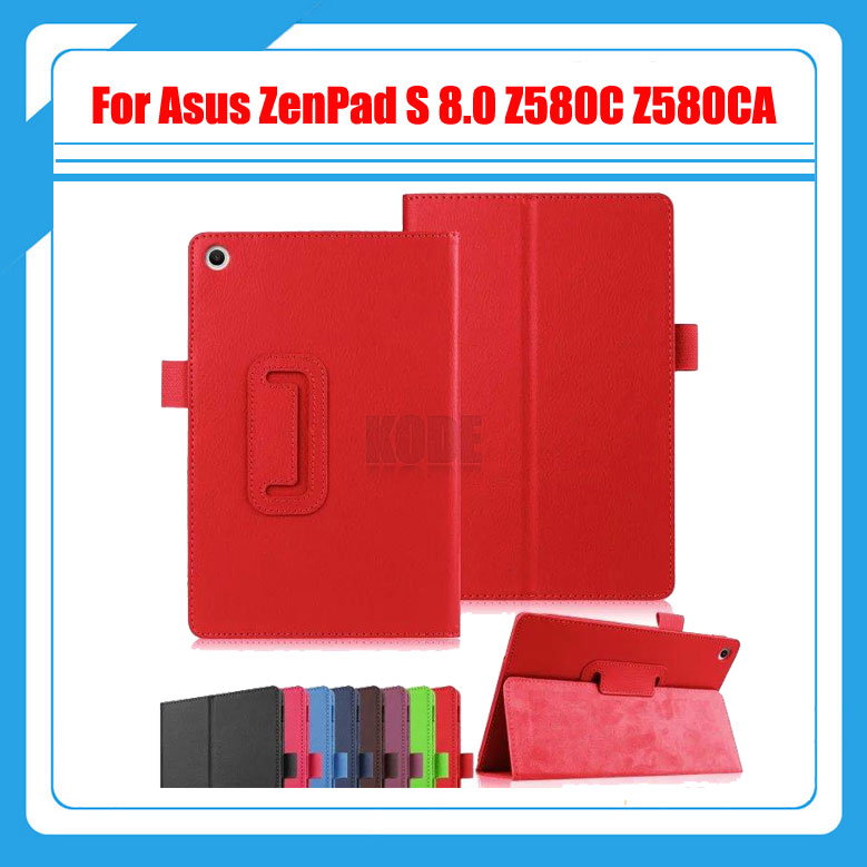 3 in 1 , Top Quality Litchi Pattern Case Cover For Asus ZenPad S 8.0 Z580C Z580CA + Screen Protectors + Stylus