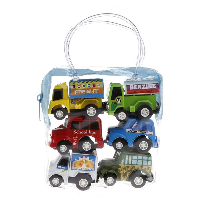 US $2 6 16% OFF Fuuny 1set/6pcs Classic Kids Child Boy Girl Truck Vehicle  Mini Small Pull Back Car Toy-in Diecasts & Toy Vehicles from Toys & Hobbies