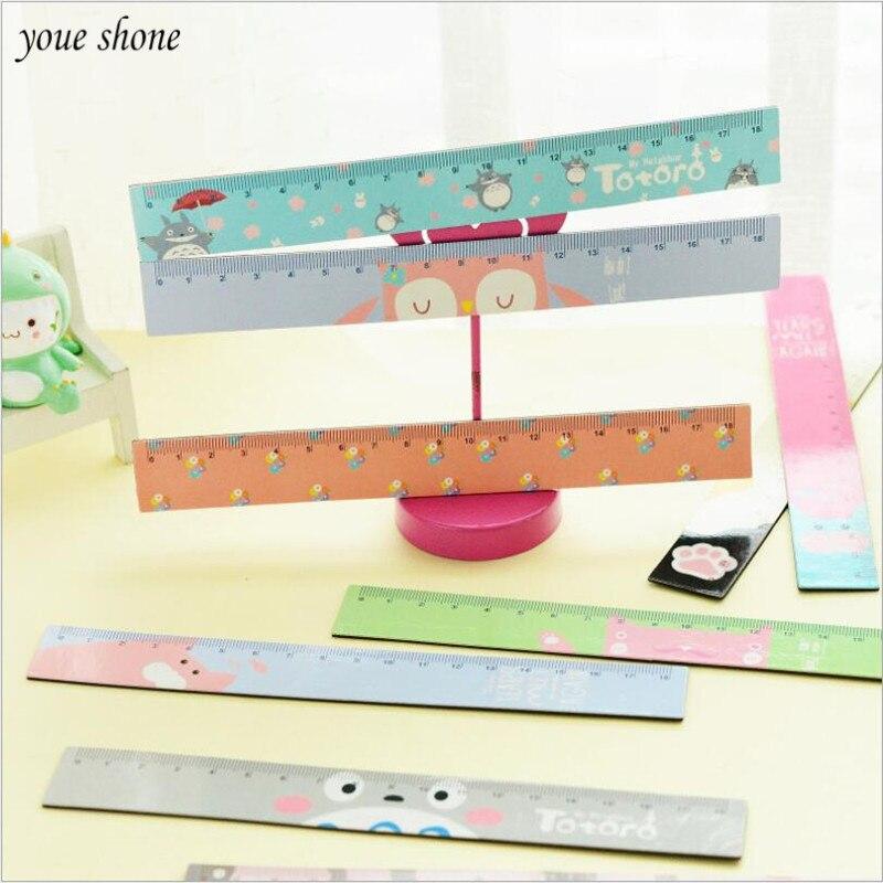 1Pcs/lot Korean creative stationery cute cartoon soft magnetic ruler 18CM scale ruler student measuring ruler