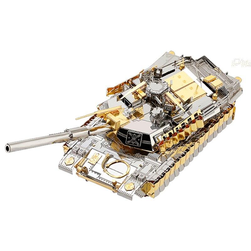 Piececool 3d En Métal Puzzle Nano M1A2 SEP TUSK II Réservoir Assembler Modèle Kits P077 BRICOLAGE 3D Découpé Au Laser Puzzle Jouets pour Vérification