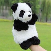 Plush-Doll Hand-Puppet Panda-Toy Educational-Toys Baby Kids Preschool Kindergarten