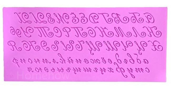 1PC / Çox böyük ölçülü sənət şrift əlifba məktubu silikon - Mətbəx, yemək otağı və barı - Fotoqrafiya 2