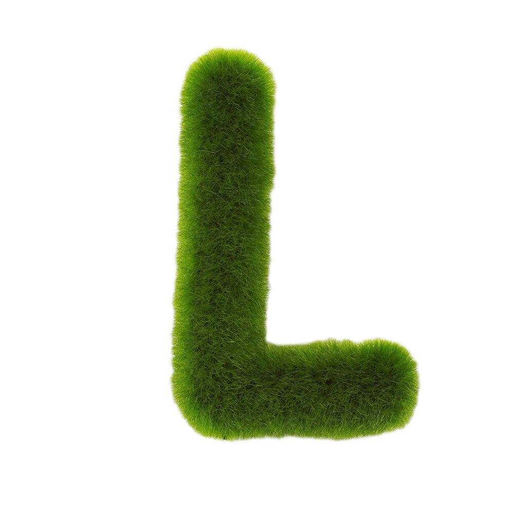 Буквенные предметы интерьера искусственный газон письмо искусственный газон украшение 26 слов ремесленный дом окно креативный - Цвет: L