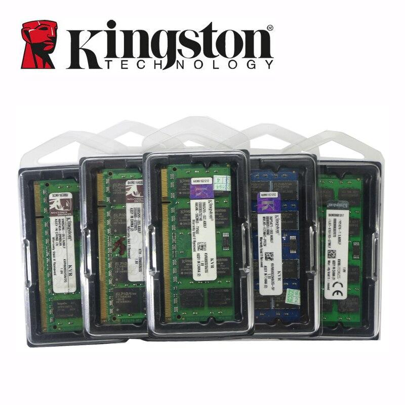 Kingston notebook Laptop RAM Memoria Module DDR2 800 667 MHz PC2 6400S 1GB 2G 2GB 4G 4GB 8GB DDR3 1333 1600 MHz PC3-12800 5