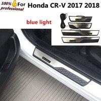 Honda CRV CR-V 2017 2018 için yüksek kalite araba styling dışında LED ışık eşik Makale Paslanmaz çelik lambası kapı Plaka panel