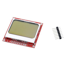 DIY LCD Module Display for Arduino Nokia 5110 Monitor White Backlight Adapter PCB 84*48 84×84 Screen Kit Programmer Electronics