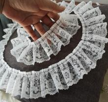 5CM Wide HOT Embroidery white black 3D flower lace fabric trim ribbon DIY sewing applique collar dress wedding guipure decor