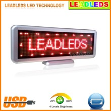 Car Sign Programmable Message Sign Moving Scrolling LED Display Board Single Red High Brightness