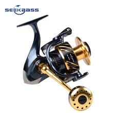 SeekBass Yeni məhsul Yaponiya SK4000-SK10000 Tam Metal Spinning Jigging Reel Spinning Spel 12BB Yüngül lehimli 30 kq sürət gücü