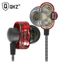 QKZ DM8 Earphone Fone De Ouvido Auriculares Audifonos Mini Dual Driver Extra Bass Turbo Wide Sound