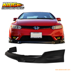 For 2006 2007 2008 HONDA CIVIC 2DR COUPE FRONT BUMPER LIP PU USA Domestic Free Shipping