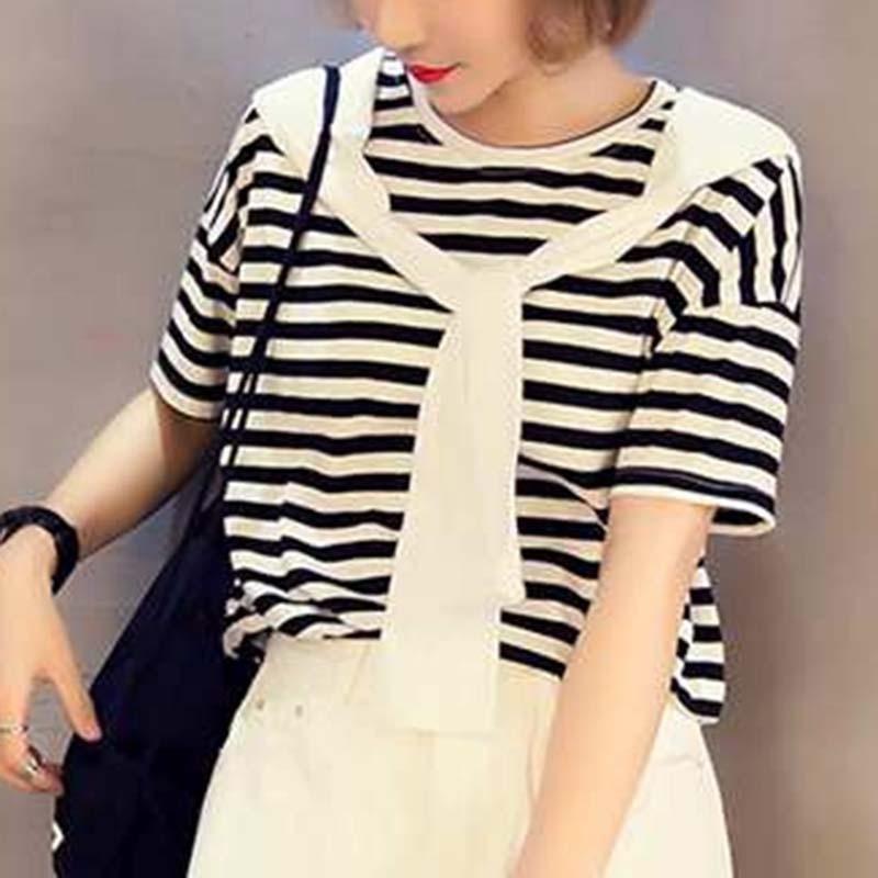 Women Fashion Fake Collar Sleeves Small Shawl Fake Navy Collar Clothing Accessories Black / White / Dark Blue Tricolor Fake Tie