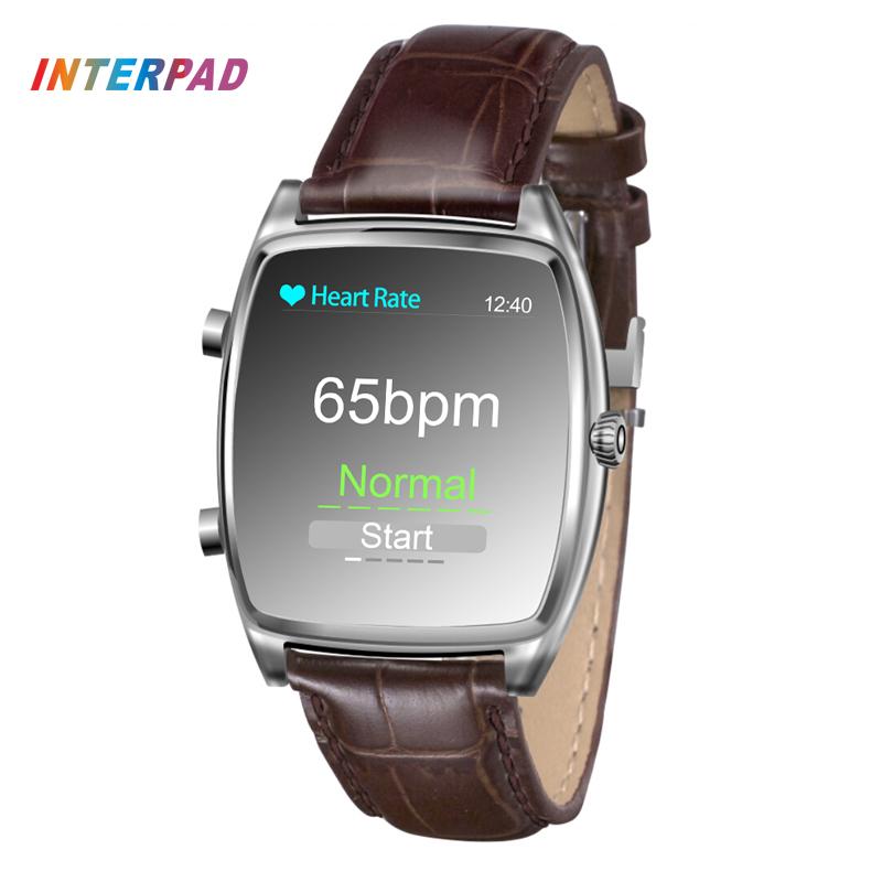 Prix pour Interpad Intelligent iprogrammes Santé Smart Watch Pour Parents Meilleur Cadeau Avec Identifier Coeur de La Pression Artérielle Taux Sommeil Moniteur Montre-Bracelet