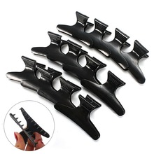 Free Shipping 12Pcs Salon Hairdressing Hairdressers Black Hair Clamps Clips Claw Section Butterfly Styling Tools