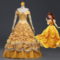 Cosplay Beauty and the Beast Costume Princess Belle Cosplay Dress Fancy Halloween Costumes for Women CS343431