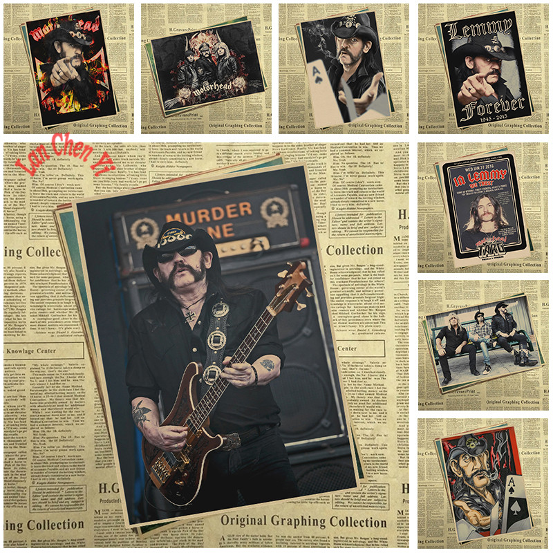 Lemmy Nostalgic Matte Rock Band Kraft Paper Poster Office Gift Room Dining Home Decor wa ...