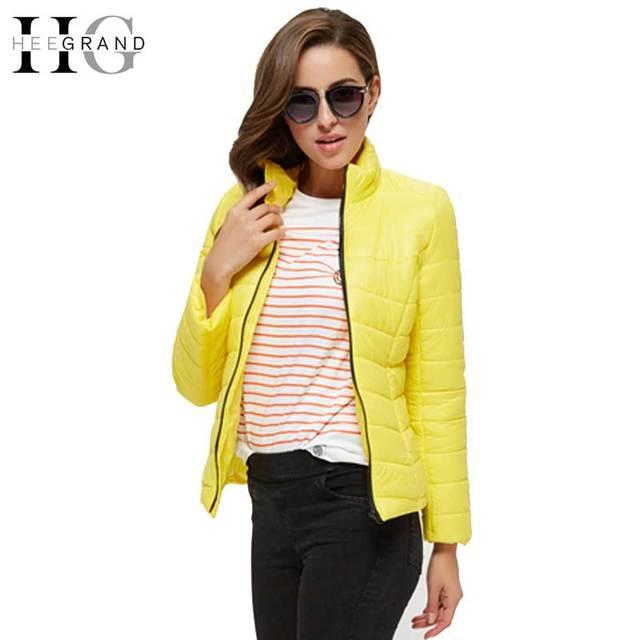 HEE GRAND 2016 Winter Coats Jackets Slim Jaqueta Feminina Wide-Waist Standard Casaco Solid Full Sleeve Winter Coat Women WWM914