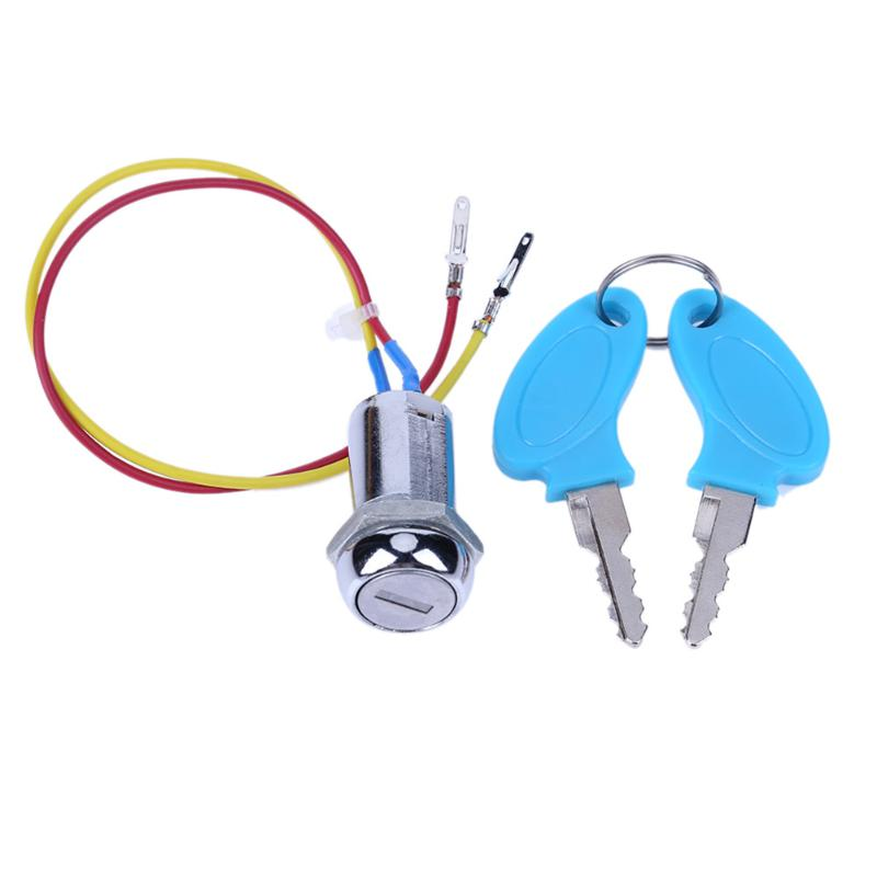 VODOOL 2 Wires Pedal ATV Electric Folding Bike Moped Go-kart Ignition Switch Key Bicycle Kart Ignition Switch Starter